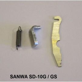 Fjærsett - selvsentrerende stikke Sanwa SD-10 radio