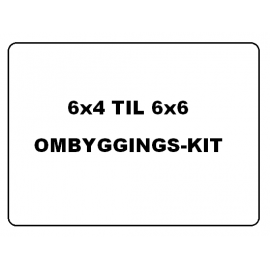 6x4 til 6x6 - ombygging