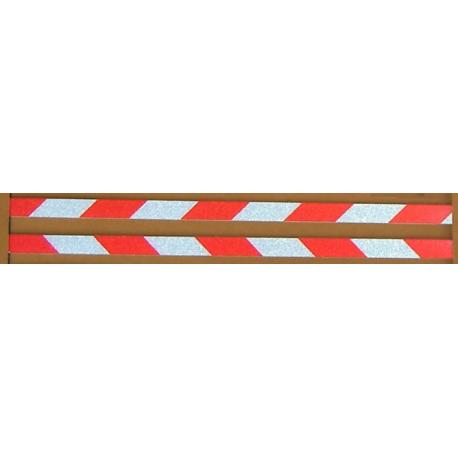 Refleksstripe rød/hvit
